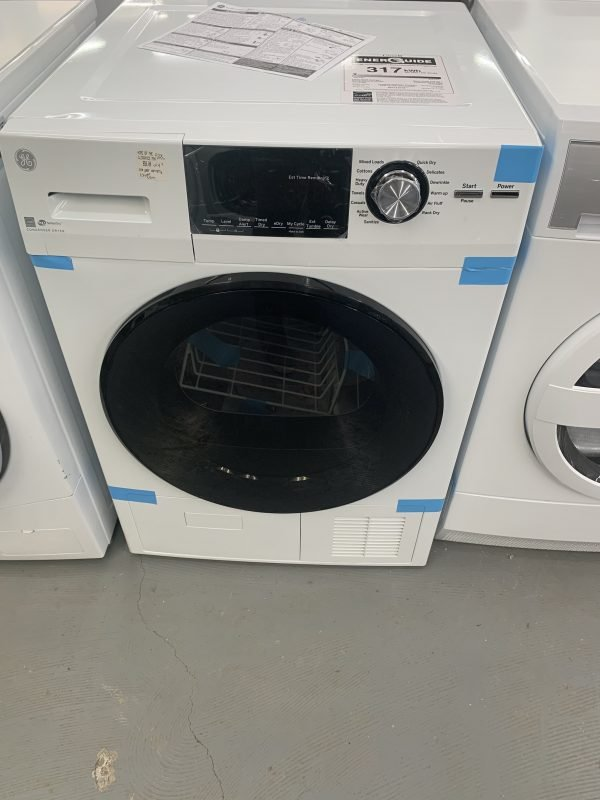 GE 4.1 cu. ft. 240-Volt White Electric Ventless Dryer 1