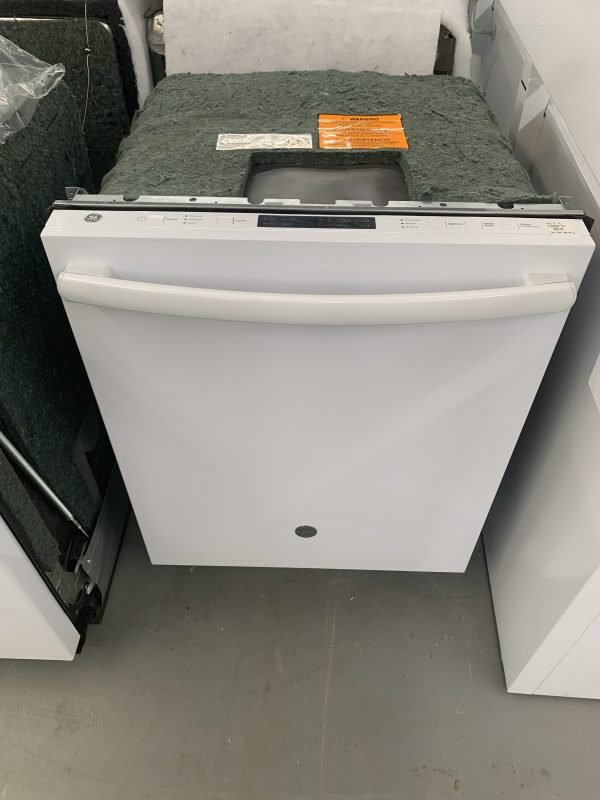 """GE 24"""" BUILT-IN TOP CONTROL DISHWASHER WITH STAINLESS STEEL TALL TUB WHITE 1"""