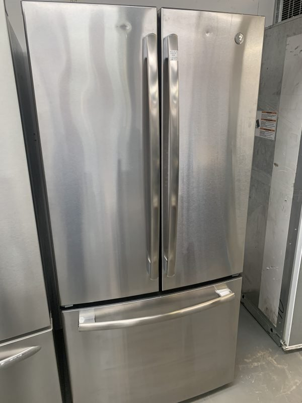 GE 18.6 Cu. Ft. Counter-Depth French-Door Refrigerator Stainless Steel 1