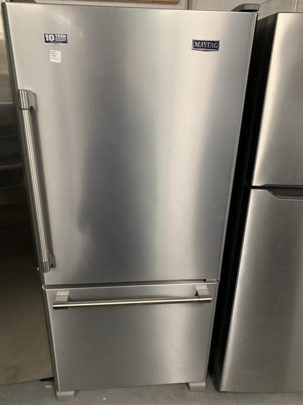 """30"""" Maytag Bottom Freezer Refrigerator 1"""