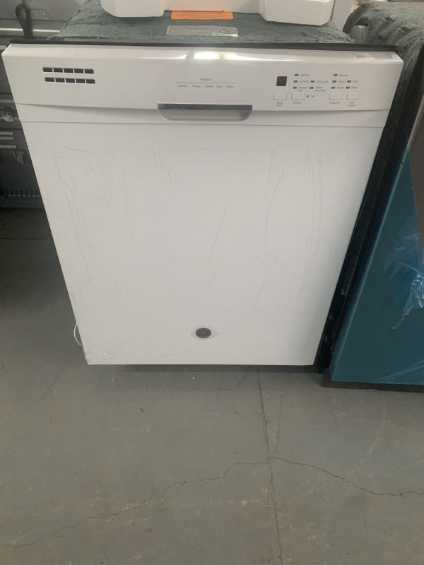 """GE 24"""" BUILT-IN STAINLESS STEEL TALL TUB DISHWASHER WHITE 1"""