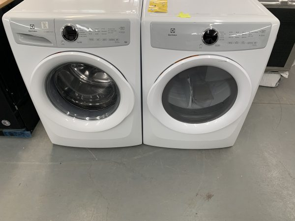 Electrolux Front-Load Stackable Washer and Dryer Set EFLW317TIW-EFDC317TIW (White) ENERGY STAR 1