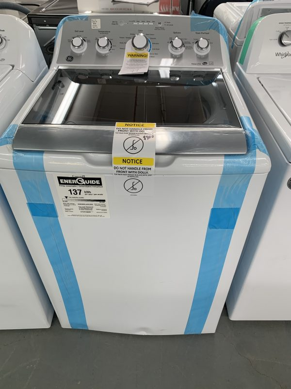 GE 5.0 Cu. Ft. High Efficiency Top Load Washer (GTW575BMMWS) 1