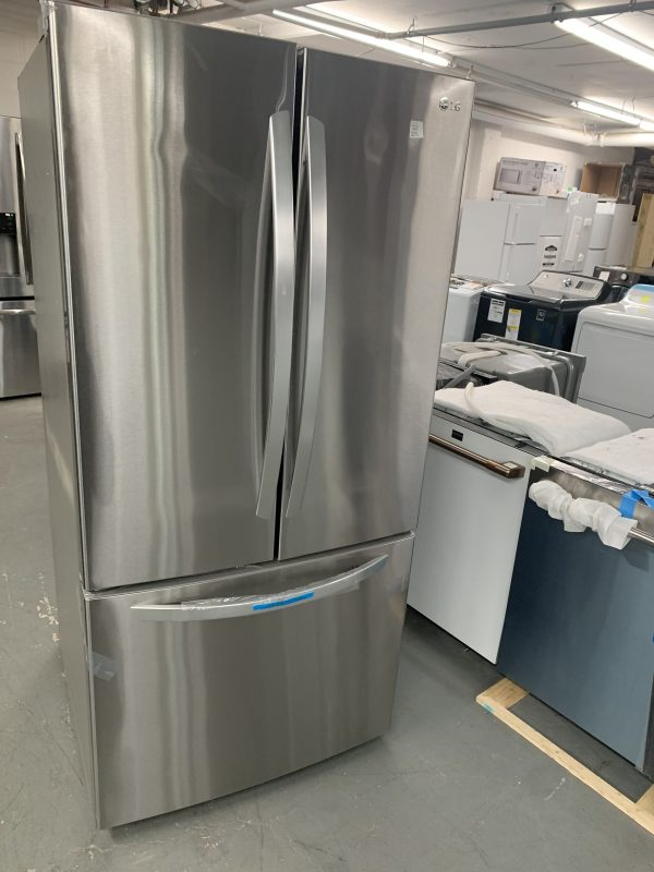 """LG 33"""" 25.1 Cu. Ft. French Door Refrigerator with Ice Dispenser (LRFCS2503S) - Stainless Steel 1"""