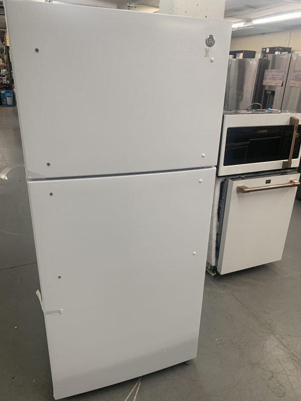"GE 30"" 18 Cu. Ft. Top Freezer Refrigerator with LED Lighting 1"
