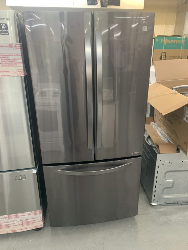 """LG 33"""" 25.1 Cu. Ft. French Door Refrigerator with Ice Dispenser - Black Stainless Steel 1"""