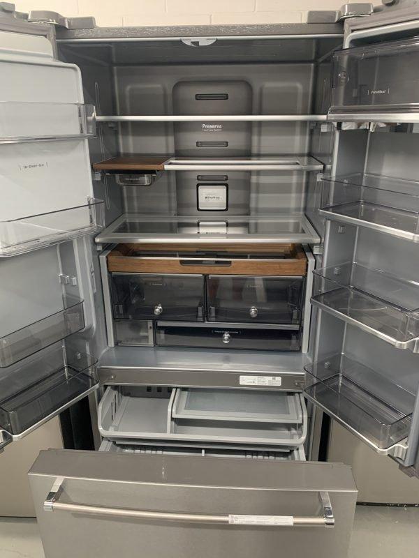 "KitchenAid 23.8 Cu. Ft. 36"" Counter-Depth French Door Platinum Interior Refrigerator With PrintShield Finish 2"