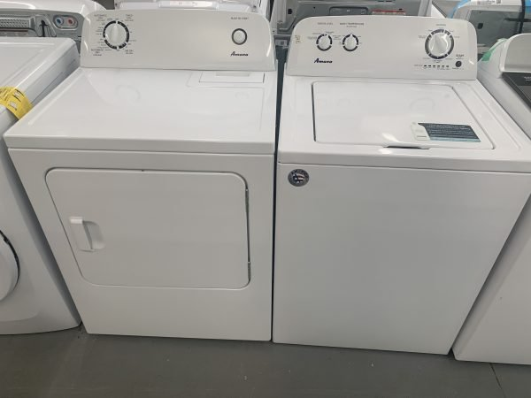 Amana top load Washer and Dryer Set 1
