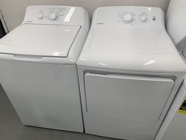 Moffat 4.4 Cu. Ft. High Efficiency Top Load Washer & 6.2 Cu. Ft. Electric Dryer - White 1