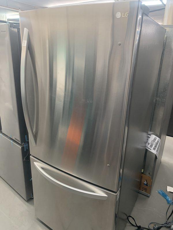 "LG 30"" 22.1 Cu. Ft. Bottom Freezer Refrigerator with LED Lighting - Stainless Steel 1"