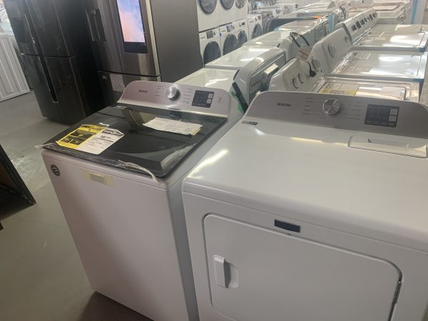 Maytag 5.5 Cu. Ft. Top Load Washer & 7.0 Cu. Ft. Electric Dryer - White 1