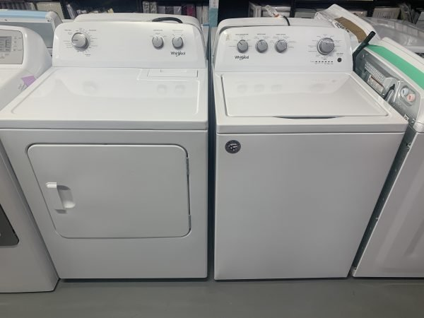 Whirlpool 4.4 Cu. Ft. Top Load Washer & 7.0 Cu. Ft. Electric Dryer - White 1