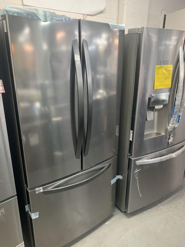 "LG 33"" 25.1 Cu. Ft. French Door Refrigerator (LRFNS2503V) - Platinum Silver Steel 1"