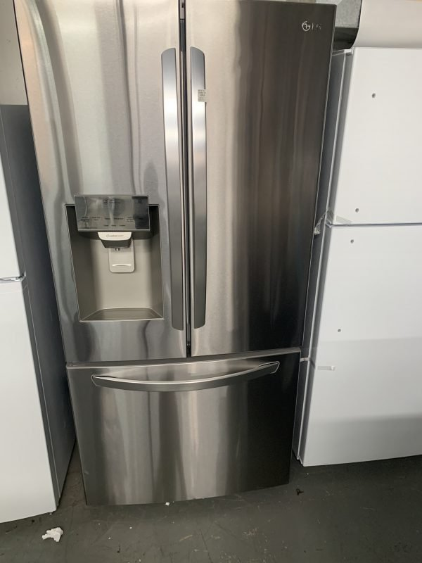 """LG 33"""" 24.5 Cu. Ft French Door Refrigerator with Water & Ice Dispenser 1"""