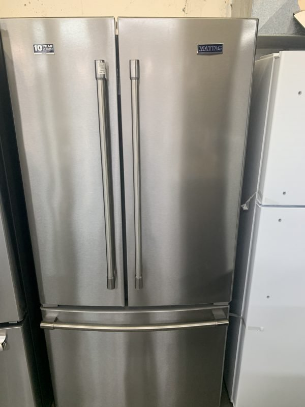 """Maytag 33"""" 22 Cu. Ft. French Door Refrigerator with LED Lighting 1"""