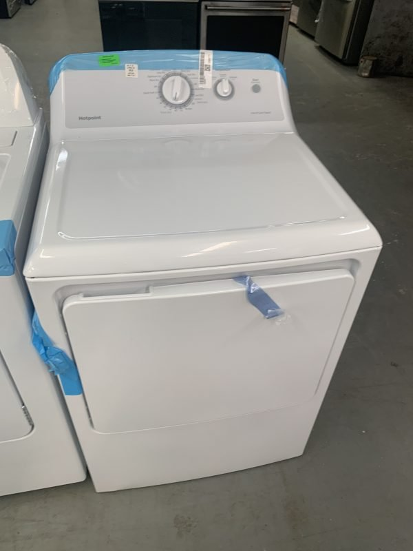 6.2 cu. ft. 120 Volt White Gas Vented Dryer by Hotpoint 1