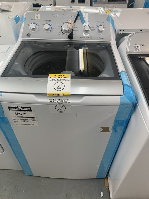 GE ADORA 4.9 CU. FT. TOP LOAD WASHER WITH STAINLESS STEEL BASKET WHITE 1