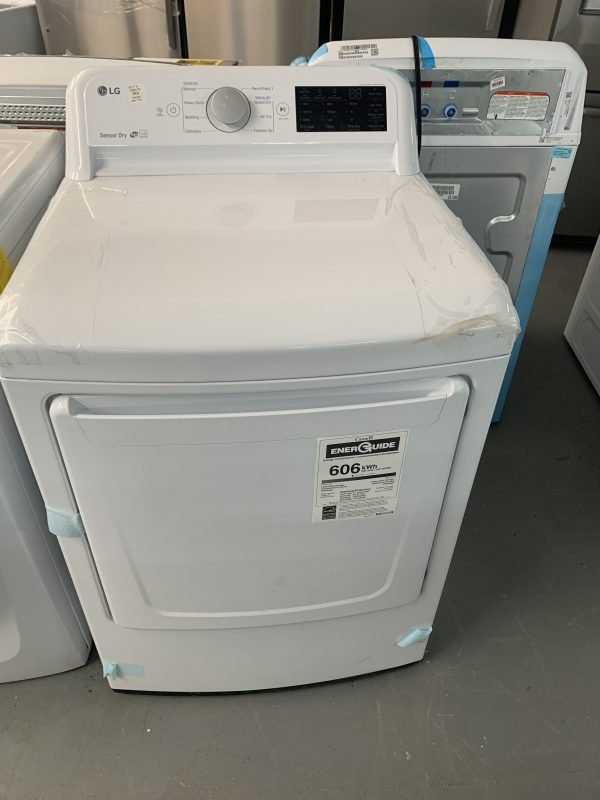 LG - 7.3 Cu. Ft. Electric Dryer with Sensor Dry - White 1