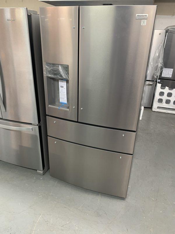 """Frigidaire Gallery 36"""" 21.8 Cu.Ft Counter-Depth French Door Refrigerator (small dent on bottom freezer door) 1"""