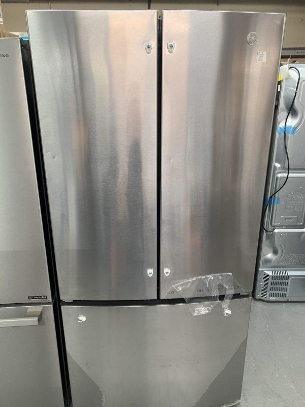 GE® ENERGY STAR® 18.6 Cu. Ft. Counter-Depth French-Door Refrigerator (two small dents on left door) 1