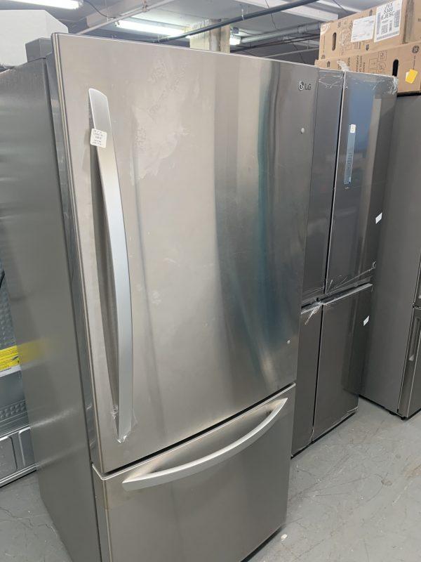 "LG 30"" 22.1 Cu. Ft. Bottom Freezer Refrigerator with LED Lighting - manufacturers paint blemish 1"