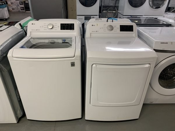 LG Top Load Washer no agitator and Dryer Set 1